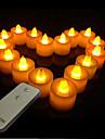 changement de couleur romantique paraffinique léger télécommandé LED Bougie électronique (1 lumière&Une télécommande)