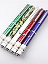 LS324 Single Pen Shape Green Laser Pointer (5mW, 532nm, 2xAAA, 5 Color)