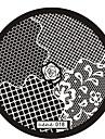Abstracto - de Metal - para Dedo/Outro - 6x6 - 1