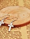 Boucle Forme de Croix / Forme Géométrique Boucles d'oreille goutte Bijoux 1set Quotidien / Décontracté Alliage Femme Argent