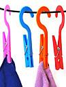 Cabides de grampo de 2pcs convenientes roupa de lavanderia casa meias amarrar clipes de toalhas