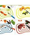гибкий ультра-тонкий фруктовый инструмент кухни для резки овощей разделочная доска мат случайный цвет