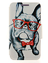 For Samsung Galaxy Note Card Holder / with Stand / Flip Case Full Body Case Dog PU Leather SamsungNote 5 Edge / Note 5 / Note 4 / Note 3