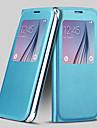 Экран виден PU кожаный чехол для всего тела для Samsung Galaxy S6 (ассорти цветов)