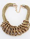 Damskie Naszyjniki z wisiorkami - Europejskie, Moda Złoty, Czarny Naszyjniki Biżuteria Na