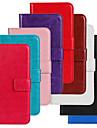 Capinha Para Nokia Lumia 520 Nokia Capinha Nokia Porta-Cartao Carteira Com Suporte Capa Protecao Completa Cor Solida Rigida PU Leather