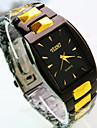 nouvelle explosion cadran ovale or noir bracelet de mode de quartz d'affaires de montres hommes (couleurs assorties)