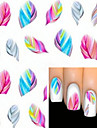 1 pcs Cartoon / Fashion Water Transfer Sticker / 3D Nail Stickers Lovely Daily