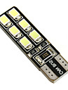SO.K 2pcs T10 차 전구 2.2 W SMD LED 12 방향 지시등 For 유니버셜