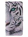Pour Samsung Galaxy Coque Portefeuille Porte Carte Avec Support Clapet Coque Coque Intégrale Coque Animal Cuir PU pour Samsung S6