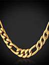 Women's Gold Plated Chain Necklace - Fashion Necklace For Christmas Gifts Wedding Party Special Occasion Birthday Gift Daily Casual