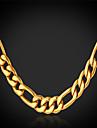 Жен. Позолота Ожерелья-цепочки - Позолота Позолоченный Мода Ожерелье Назначение Новогодние подарки Свадьба Для вечеринок Особые случаи