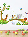 Wall Stickers Wall Decals Style Lovely Forest Animal PVC Wall Stickers