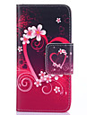 Case For Samsung Galaxy Samsung Galaxy Case Card Holder Wallet with Stand Flip Full Body Cases Heart PU Leather for S5 Mini S5 S4 Mini S4