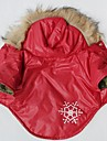 Cat Dog Coat Hoodie Dog Clothes Snowflake Red Cotton Costume For Pets Cosplay