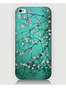 fmall 흰색 꽃 패턴 케이스는 다시 phone4 / 4S 케이스에 대한 표지