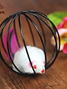 Cat Toy Pet Toys Interactive Teaser Cage Ball Mouse Plastic For Pets