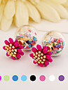 Earring Flower Stud Earrings Jewelry Women Wedding / Party / Daily / Casual Alloy / Acrylic / Resin 2pcs