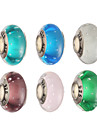 Diy Beads Glass/Metal Round Shape Large Hole Beads 1Pcs