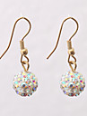 Sweet (Ball-shaped Drop) Assorted Color 2  Alloy&Rhinestone Drop Earrings