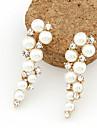 여성용 진주 드랍 귀걸이 - 펄, 모조 진주, 라인석 패션 화이트 제품 일상 / 모조 다이아몬드
