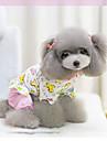 Собака Комбинезоны Пижамы Одежда для собак Мультипликация Синий Розовый Хлопок Костюм Назначение Весна & осень Зима Жен. На каждый день