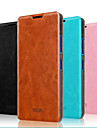 Для Кейс для Nokia со стендом / Флип Кейс для Чехол Кейс для Один цвет Твердый Натуральная кожа Nokia Nokia Lumia 640 / Nokia Lumia 640 XL