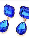 Mulheres Brincos Curtos Brincos Compridos Fashion Pedras preciosas sinteticas Zirconia Cubica Liga Forma Geometrica Caido Joias Joias de