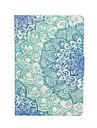 아이 패드 미니 1/2/3에 대한 화면 보호기 및 스타일러스와 흰 독말풀 꽃 패턴 PU 가죽 케이스