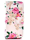 COCO FUN® Rose Flower Pattern PU Leather Full Body Case with Screen Protector, Stylus and Stand for iPhone 5C
