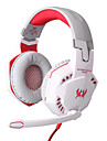 chaque casque G2000 câblé 3,5 mm sur l'oreille contrôle du volume de jeu avec microphone pour pc