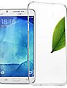 la ligne lenuo cas nature TPU ultra mince étui transparent couverture souple de 0.6mm de clair pour Samsung Galaxy J5 (de J5008)