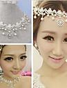 Femme Collier court /Ras-du-cou Colliers/Sautoir Perle Dentelle Strass Imitation de diamant Alliage Bijoux Pour Mariage Soiree 1pc