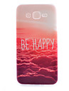 For Samsung Galaxy Case Pattern Case Back Cover Case Word / Phrase TPU Samsung J7 / J5 / J1