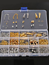Clasp,Toggles&Closures Crimps Jump,Split & Double Rings DIY Jewelry Findings Kit Jump Rings Chains Crimp & End Beads Clasps & Hooks N/A