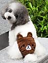 Кошка Собака Костюмы Инвентарь Брюки Одежда для собак Мультипликация Желтый Коричневый Розовый Хлопок Костюм Для домашних животных