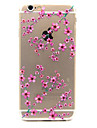 Plum Pattern TPU Relief Back Cover Case for iPhone 6s 6 Plus