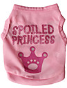 Cat Dog Shirt / T-Shirt Dog Clothes Letter & Number Tiaras & Crowns Rose Pink Terylene Costume For Pets Men\'s Women\'s Fashion