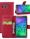 Кейс для Назначение SSamsung Galaxy Кейс для  Samsung Galaxy Бумажник для карт Кошелек со стендом Флип Чехол Сплошной цвет Кожа PU для