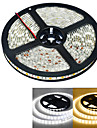 5m Flexible LED Light Strips 300 LEDs 5050 SMD Warm White / White Waterproof 12 V / IP65