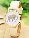 les femmes de mode de la montre de l'éléphant en cuir montre bracelet pour les femmes Montres montres à quartz