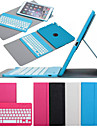 For Case Cover with Stand with Keyboard Flip 360° Rotation Full Body Case Solid Color Hard PU Leather for iPad Air 2