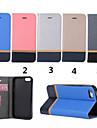 Для Кейс для iPhone 5 Бумажник для карт / со стендом Кейс для Чехол Кейс для Полосы / волосы Твердый Искусственная кожа iPhone SE/5s/5