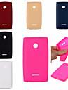 Для Кейс для Nokia Защита от удара Кейс для Задняя крышка Кейс для Один цвет Мягкий TPU Nokia Nokia Lumia 535