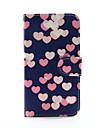 Pour Samsung Galaxy Coque Portefeuille Porte Carte Avec Support Clapet Coque Coque Integrale Coque Coeur Cuir PU pour Samsung S5 S4 S3