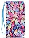 Pour Samsung Galaxy Coque Portefeuille Porte Carte Avec Support Clapet Coque Coque Integrale Coque Fleur Cuir PU pour SamsungS7 edge S7