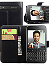 For BlackBerry Case Wallet / Card Holder / with Stand / Flip Case Full Body Case Solid Color Hard PU Leather for BlackBerry
