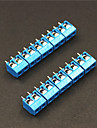 2 Pin 5.0mm Terminal Blocks Connectors - Blue (5-Piece)
