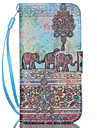 For iPhone 5 Case Card Holder / with Stand Case Full Body Case Elephant Hard PU Leather iPhone SE/5s/5