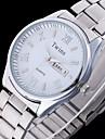 L.WEST Men\'s Both English And Chinese Double Roman Calendar Belt Of Screw Steel Waterproof Quartz Pointer Watch Wrist Watch Cool Watch Unique Watch